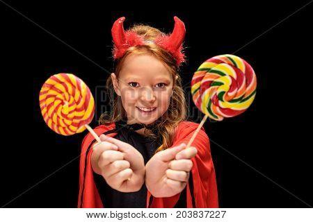 Little Devil With Lollipops