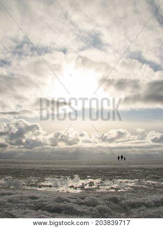 Beautiful View Of The Winter Gulf Of Finland