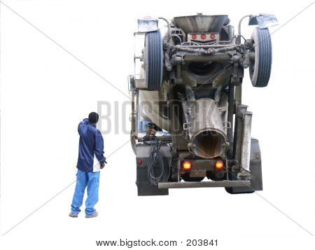 Cement Truck Backing Up