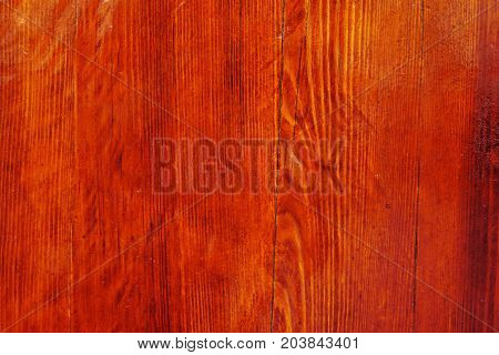 Background Of Natural Knotted Wood Texture, Wood Stained And Polished