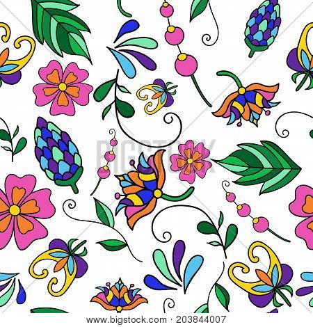 Vector floral pattern. Seamless pattern can be used for wallpaper, pattern fills, web page background, surface textures