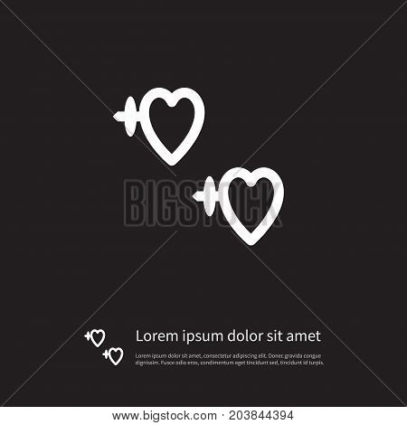 Gem Vector Element Can Be Used For Shackle, Earring, Eardrop Design Concept.  Isolated Earring Icon. poster