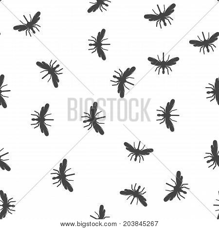 Mosquito seamless pattern. Vector illustration for backgrounds