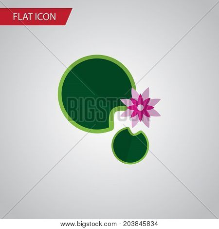 Lotus Vector Element Can Be Used For Lotus, Water, Lily Design Concept.  Isolated Water Lily Flat Icon.