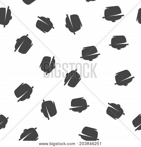 Pan seamless pattern. Vector illustration for backgrounds