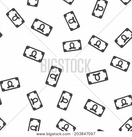 Money seamless pattern. Vector illustration for backgrounds