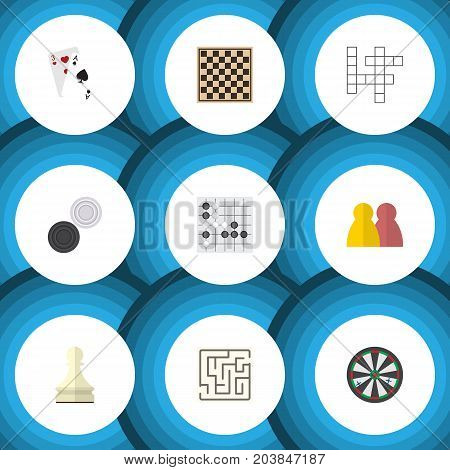 Flat Icon Games Set Of Chess Table, Pawn, Arrow And Other Vector Objects