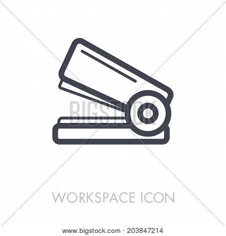 Staple outline icon. Workspace sign. Graph symbol for your web site design logo app UI. Vector illustration EPS10.