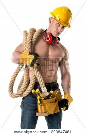 Powerful Construction Worker