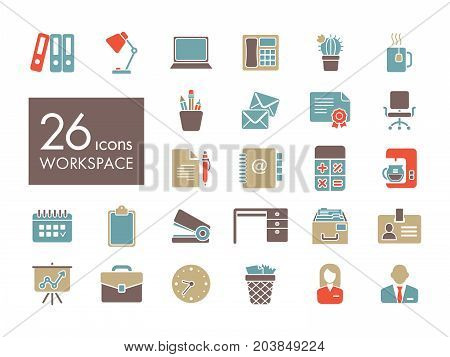 Workspace outline icon. Workspace sign. Graph symbol for your web site design logo app UI. Vector illustration EPS10.