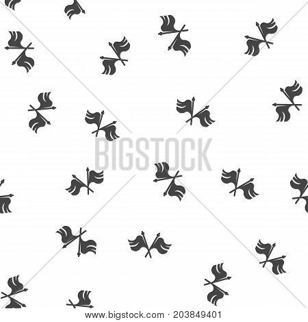 Cross flag seamless pattern. Vector illustration for backgrounds
