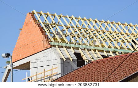 Construction of a new house in the city