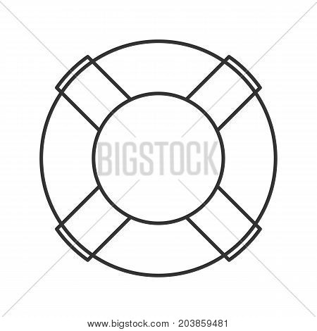 Life ring linear icon. Thin line illustration. Life buoy. Contour symbol. Vector isolated outline drawing