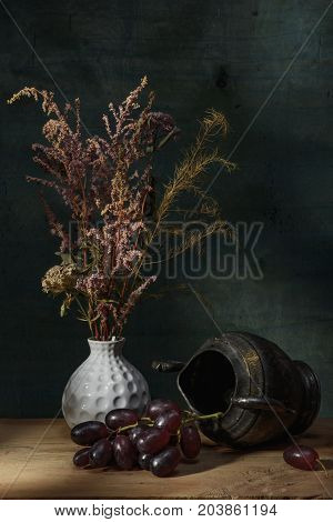 Art style- of colored still life. Flower abstract decoration