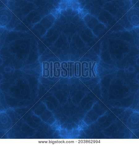 Abstract symmetry esoteric mysterious deep blue pattern image
