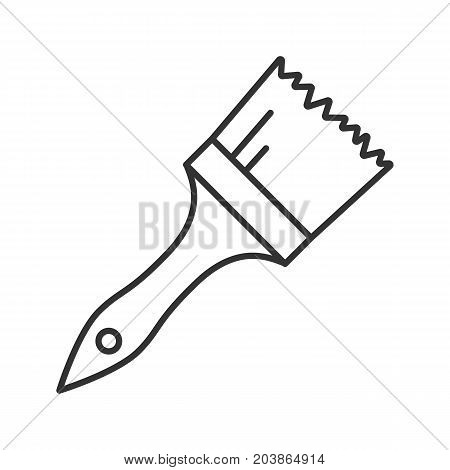 Paint brush linear icon. Thin line illustration. Contour symbol. Vector isolated outline drawing