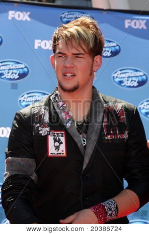 LOS ANGELES - MAY 25:  James Durbin arriving at the 2011 American Idol Finale at Nokia Theater at LA Live on May 25, 2010 in Los Angeles, CA.