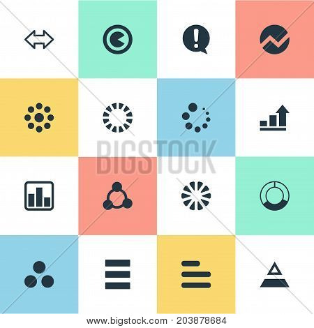 Elements Reverse Arrows, Ejaculation, Task And Other Synonyms Diagram, Graphic And Piece.  Vector Illustration Set Of Simple Chart Icons.
