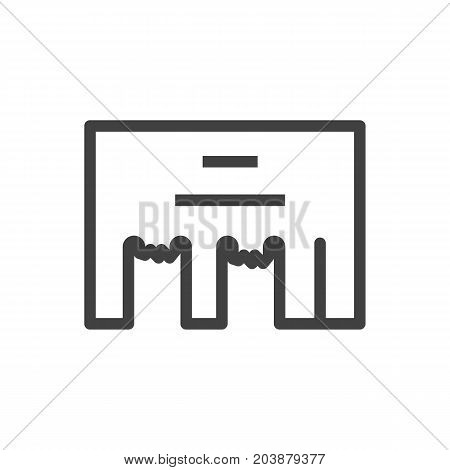 Vector Direct Message Element In Trendy Style.  Isolated Inbox Outline Symbol On Clean Background.