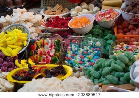 Traditional Sweets At Corpus Christi Celebration In Ecuador