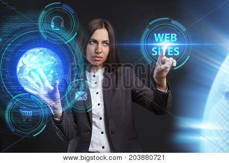 The Concept Of Business, Technology, The Internet And The Network. A Young Entrepreneur Working On A