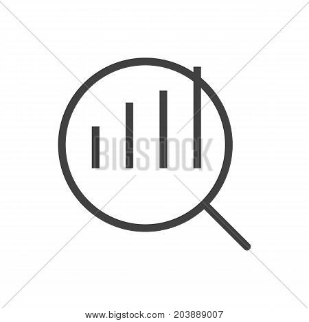 Vector Research Element In Trendy Style.  Isolated Market Outline Symbol On Clean Background.