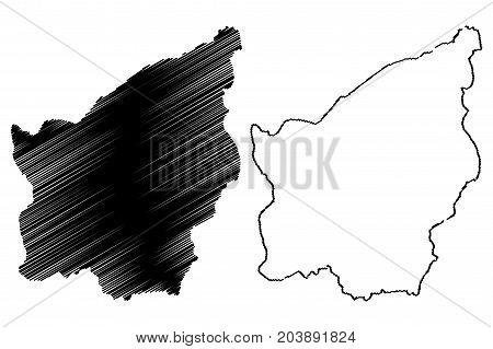 San Marino map vector illustration , scribble sketch San Marino