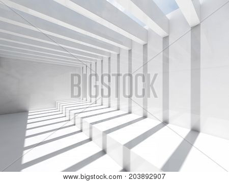 Room With Ceiling Illumination, 3D Render