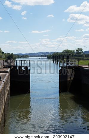 A lock on the River Saone, south of Chalon