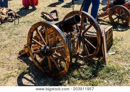 Old Cannon On A Ground
