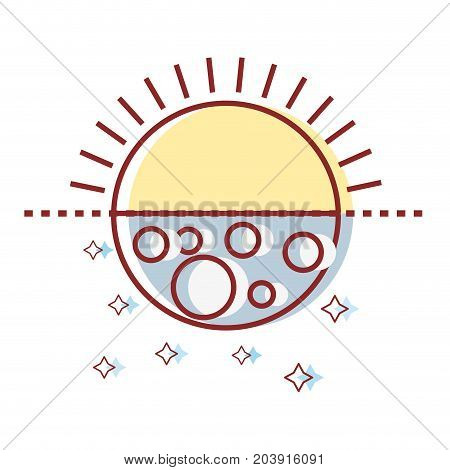 eclipse of moon and sun universe mystic vector illustration