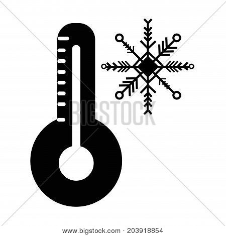 contour thermometer measure instrument to know the temperature vector illustration
