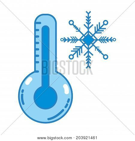 thermometer measure instrument to know the temperature vector illustration