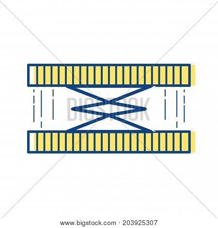 industrial hydraulic jack car service repair vector illustration