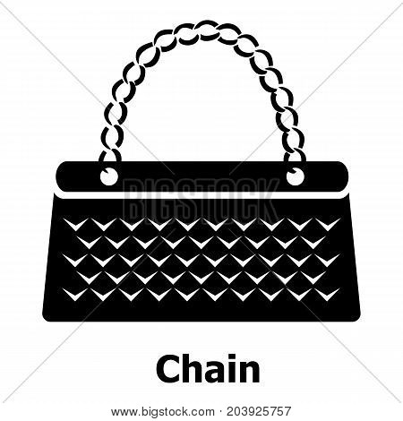 Chain bag icon. Simple illustration of chain bag vector icon for web