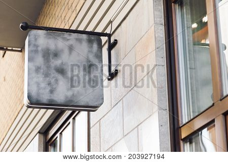 Blank modern outdoor business signage mock up to add company logo