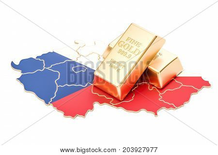Foreign-exchange reserves of Czech Republic concept 3D rendering isolated on white background