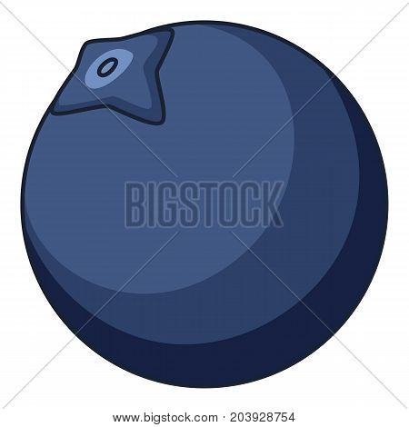 Blue berry icon. Cartoon illustration of blue berry vector icon for web