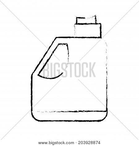 figure gasoline bottle to car industrial equipment vector illustration