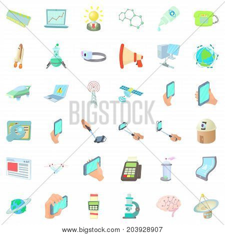 Download icons set. Cartoon style of 36 download vector icons for web isolated on white background