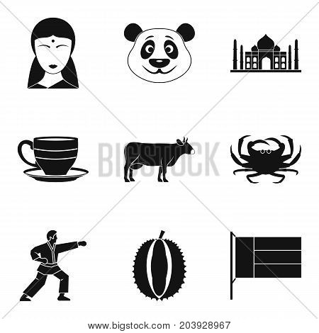 Everyday life icons set. Simple set of 9 everyday life vector icons for web isolated on white background