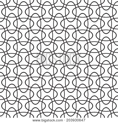 Seamless intersecting geometric overlapping circle ellipse pattern background