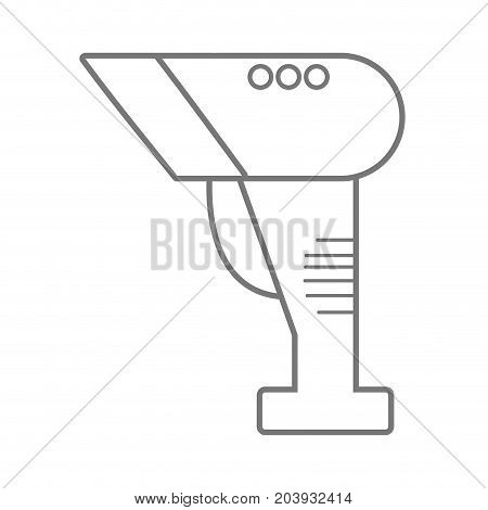 silhouette barcode reader technology with laser scan vector illustration