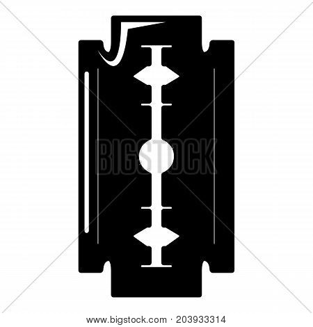 Razor blade icon . Simple illustration of razor blade vector icon for web design isolated on white background