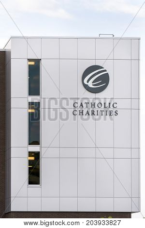 Catholic Charities Exterior And Logo