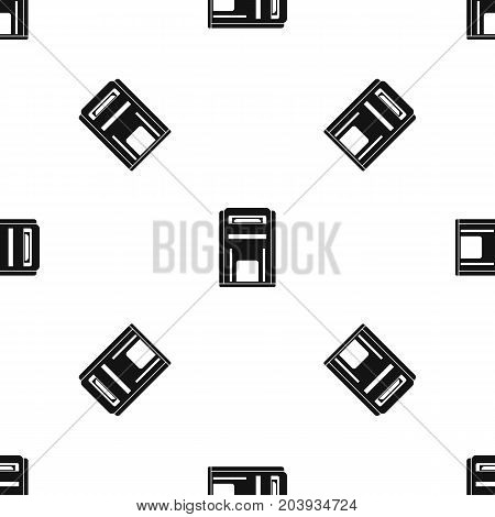 Square post box pattern repeat seamless in black color for any design. Vector geometric illustration