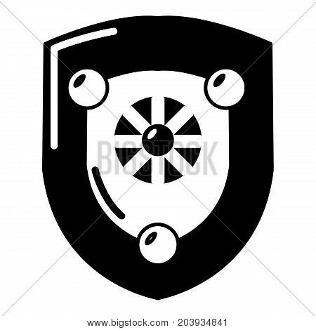 Antique shield icon. Simple illustration of shield vector icon for web isolated on white background