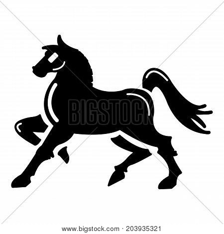 Knight horse mascot icon. Simple illustration of knight horse mascot vector icon for web design
