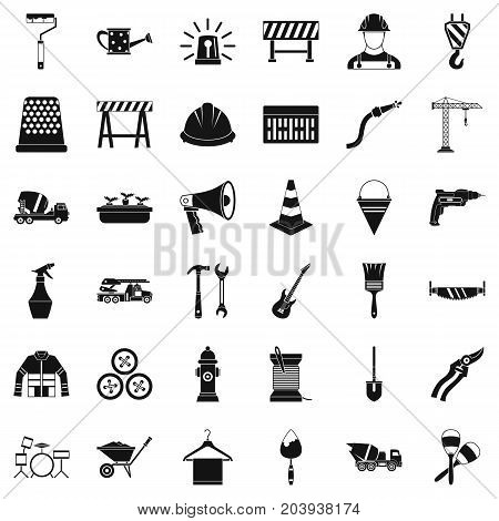 Wrench icons set. Simple style of 36 wrench vector icons for web isolated on white background