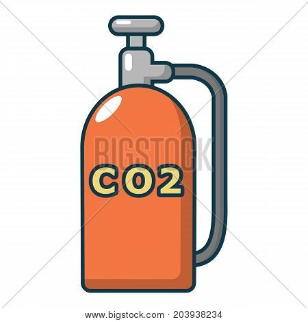 Paintball CO2 canister icon. Cartoon illustration of paintball CO2 canister vector icon for web